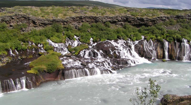 Barnafoss Waterfall in Iceland