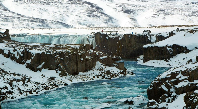 waterfall Godafoss in wintertime, Iceland.jpg