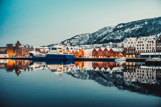 Bergen city in Norway, Winter.jpg